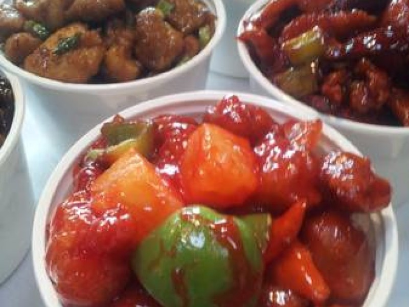 China Lunch Rice Bowls - Five Dollars - New Mandarin Garden Restaurant In Old Town San Clemente CA