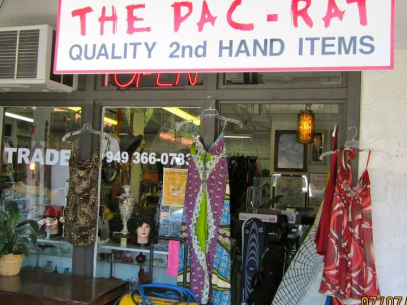 Thrift Store San Clemente - The Pac Rat - Old Town Square San Clemente CA